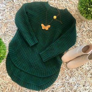 🐘LF Brand Kiwi Tucker waffleknit sweater size S